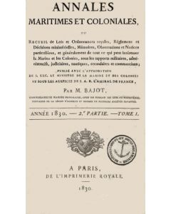 Annales Maritimes et Coloniales 1830 - Tome1