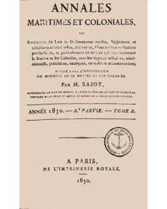 Annales Maritimes et Coloniales 1830 - Tome2
