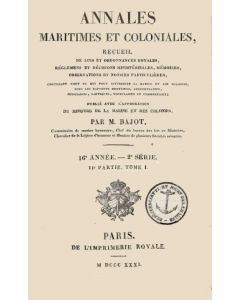 Annales Maritimes et Coloniales 1831 - Tome1