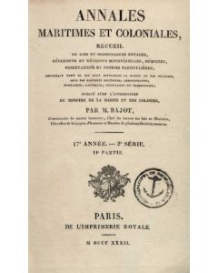 Annales Maritimes et Coloniales 1832 - Tome1