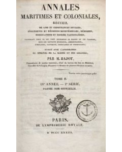 Annales Maritimes et Coloniales 1833 - Tome2