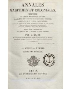 Annales Maritimes et Coloniales 1834 - Tome1