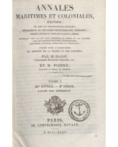 Annales Maritimes et Coloniales 1835 - Tome1