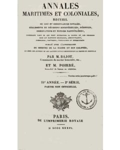 Annales Maritimes et Coloniales 1836 - Tome1