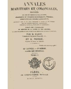 Annales maritimes et coloniales 1837 - Tome1