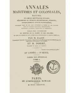 Annales Maritimes et Coloniales 1838 - Tome1