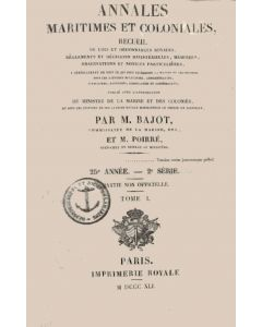 Annales maritimes et coloniales 1841 - Tome1