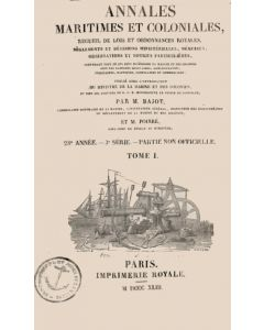 Annales maritimes et coloniales 1843 - Tome1