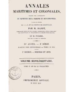 Annales maritimes et coloniales 1845 - complement