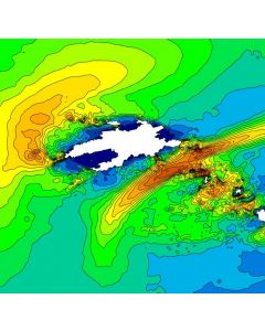 Courants de marée 3D - Fromveur (Île d'Ouessant)