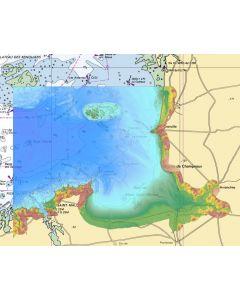 MNT topo-bathymétrique côtier d'une partie du golfe normand-breton à 20m