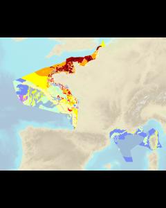 Carte de natures de fond au 1 / 500 000